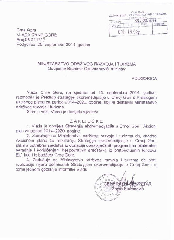 Strategija ekoremediacij v Črni gori