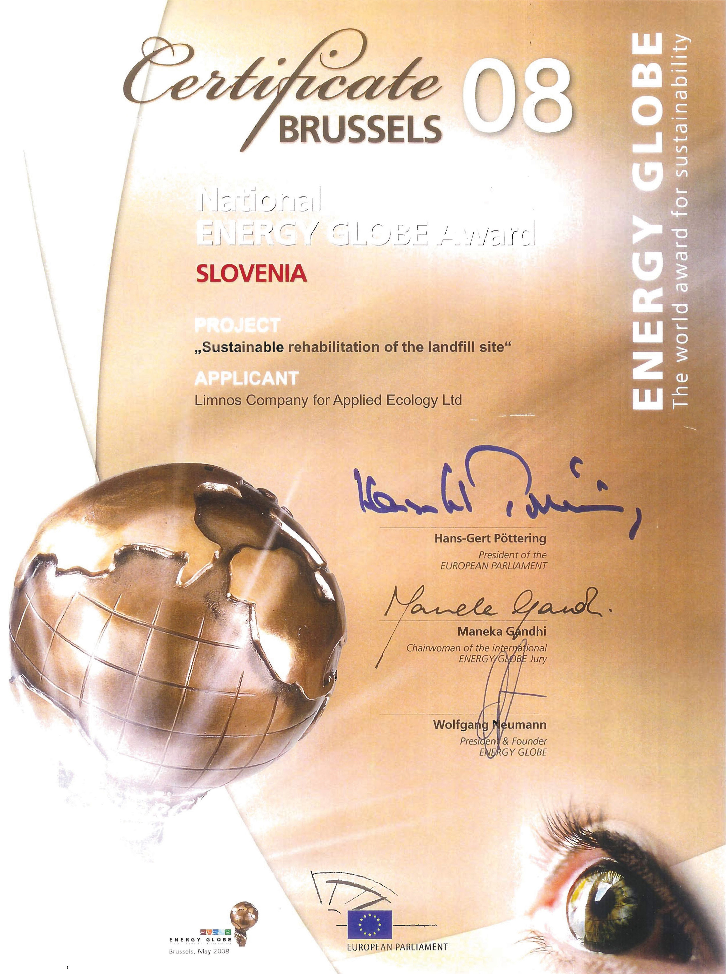 National Energy Globe Award 2008