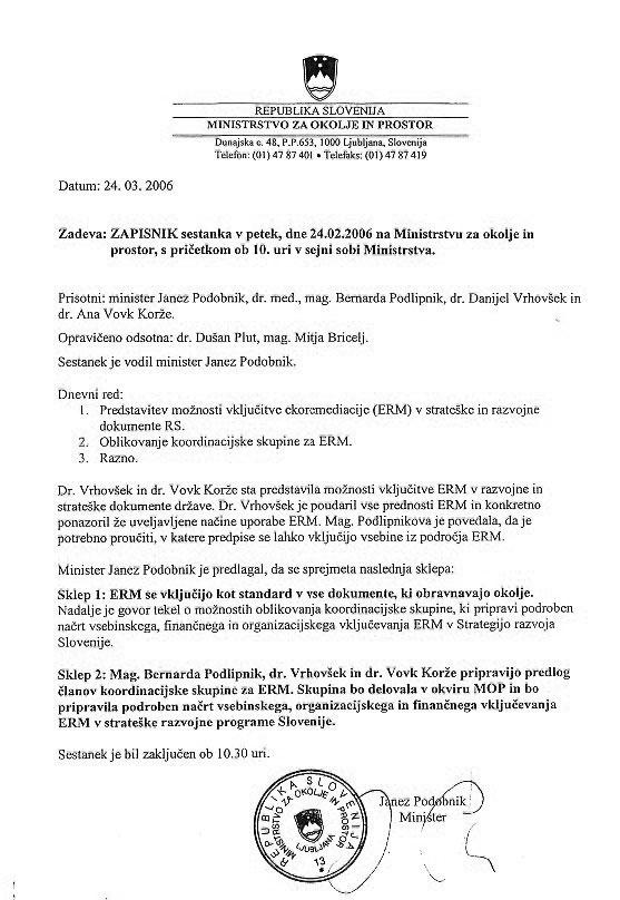 Vključevanje ekoremediacij v strateške razvojne programe Slovenije