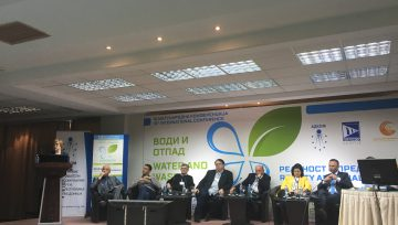 Participation in a conference organised by Macedonian association of public utility companies